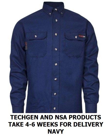 dd7f678026a TECGEN 5.5 oz Dress Uniform Shirt FR270